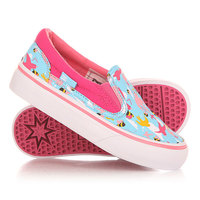 Слипоны детские DC Trase Slip On Crazy Pink/White