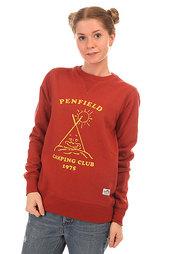 Толстовка свитшот женская Penfield Camping Club Crew Sweat Red