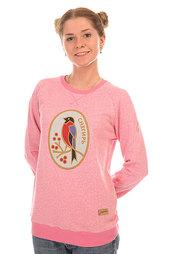 Толстовка свитшот женский Запорожец Снегирь Розовый Меланж