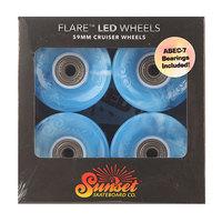 Колеса для скейтборда для лонгборда Sunset Cruiser Wheel With Abec7 Swirl Blue 78A 59 mm