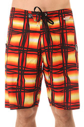 Шорты пляжные Volcom V4s Wavey Plaid Drip Red