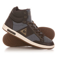 Кеды кроссовки высокие Le Coq Sportif Prestige Court Mid Chambray Dress Blues