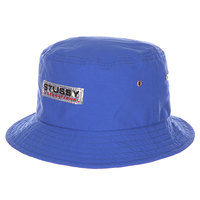 Панама Stussy Clear Patch Bucket Hat Royal Blue