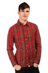 Рубашка в клетку Altamont Latch Key  Woven Red