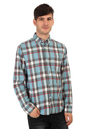 Рубашка в клетку The Hundreds Mill Long Sleeve Flannel Light Blue