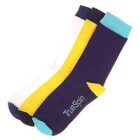 Носки средние TrueSpin Монте Колер White/Yellow/Purple