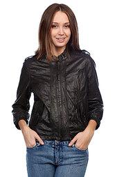 Куртка кожаная женская Converse Button Pocket Black