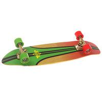 Скейт мини круизер Dusters S6 Glassy Pinstripe Cruiser Rasta 7.75 x 29 (73.6 см)