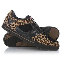 Кеды кроссовки низкие Vision Flipside Leopard/Blk/Gum
