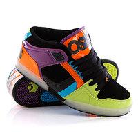 Кеды кроссовки высокие Osiris Nyc 83 Mid Lme/Orange/Blue