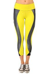 Леггинсы женские CajuBrasil Legging Supplex Black/Yellow