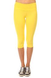 Леггинсы женские CajuBrasil Supplex Capri Yellow