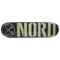 Дека для скейтборда для скейтборда Nord Logo Black/Beige 32.5 x 8.5 (21.6 см)