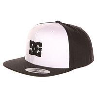 Бейсболка с прямым козырьком DC Snappy White/Black