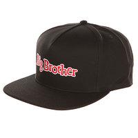 Бейсболка с прямым козырьком DC Big Brother Black