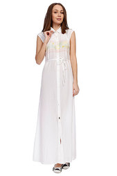 Платье женское Stussy Band Long Dress White