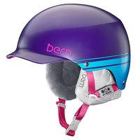 Шлем для сноуборда женский Bern Snow Hardhat Muse Satin Purple Retro Graphic/White Liner