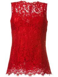кружевной топ с цветочным узором Dolce & Gabbana