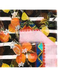 шарф с лимонами и апельсинами Dolce & Gabbana