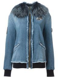 декорированная джинсовая куртка Mr & Mrs Italy
