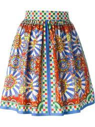 юбка с принтом Carretto Siciliano  Dolce & Gabbana
