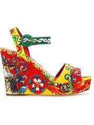 босоножки с принтом 'Carretto Siciliano' Dolce & Gabbana