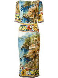 платье с принтом Carretto Siciliano Dolce & Gabbana