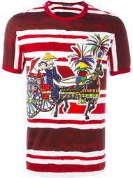 футболка с полосатым принтом Dolce & Gabbana