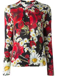 кардиган с принтом маков и маргариток Dolce & Gabbana