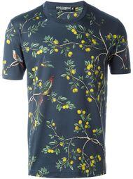 футболка с принтом лимонных деревьев Dolce & Gabbana