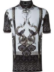 футболка-поло с принтом китайских драконов Dolce & Gabbana