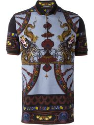 футболка-поло с принтом 'Chinese' Dolce & Gabbana