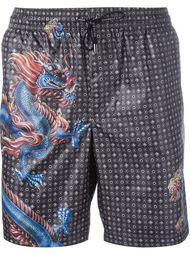 шорты для плавания с принтом дракона Dolce & Gabbana