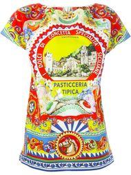 футболка с принтом 'Pasticceria Tipica' Dolce & Gabbana