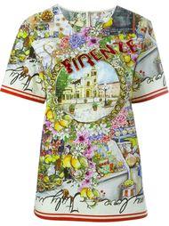 футболка с принтом 'Firenze' Dolce & Gabbana