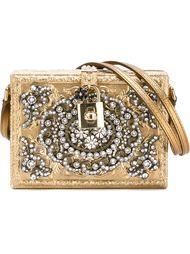 декорированный кристаллами клатч  Dolce & Gabbana
