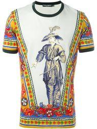 футболка с принтом китайца Dolce & Gabbana
