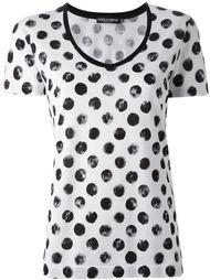 футболка с принтом в горох Dolce & Gabbana