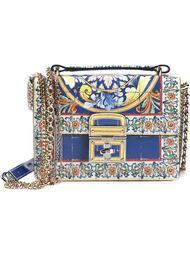 лакированная сумка 'Rosalia' на плечо Dolce & Gabbana