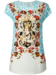 футболка с принтом 'Majolica' Dolce & Gabbana