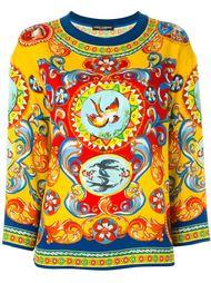 блузка с принтом 'Carretto Siciliano' Dolce & Gabbana