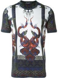футболка с принтом дракона Dolce & Gabbana