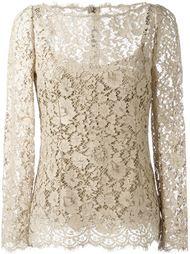 кружевная блузка с цветочным узором Dolce & Gabbana