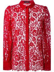 кружевная рубашка с цветочным узором Dolce & Gabbana