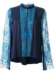 блузка с кружевными деталями  GINGER & SMART