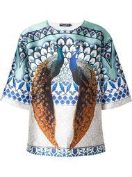 peacock print T-shirt  Dolce & Gabbana