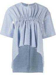 полосатая блузка с оборками Steve J & Yoni P