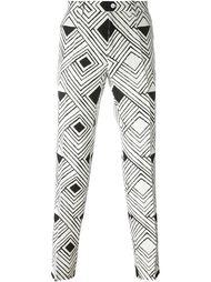 брюки кроя слим с геометрическим принтом Dolce & Gabbana