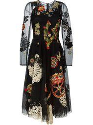 платье с прозрачным слоем Dolce & Gabbana