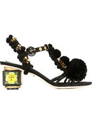 босоножки с помпонами Dolce & Gabbana